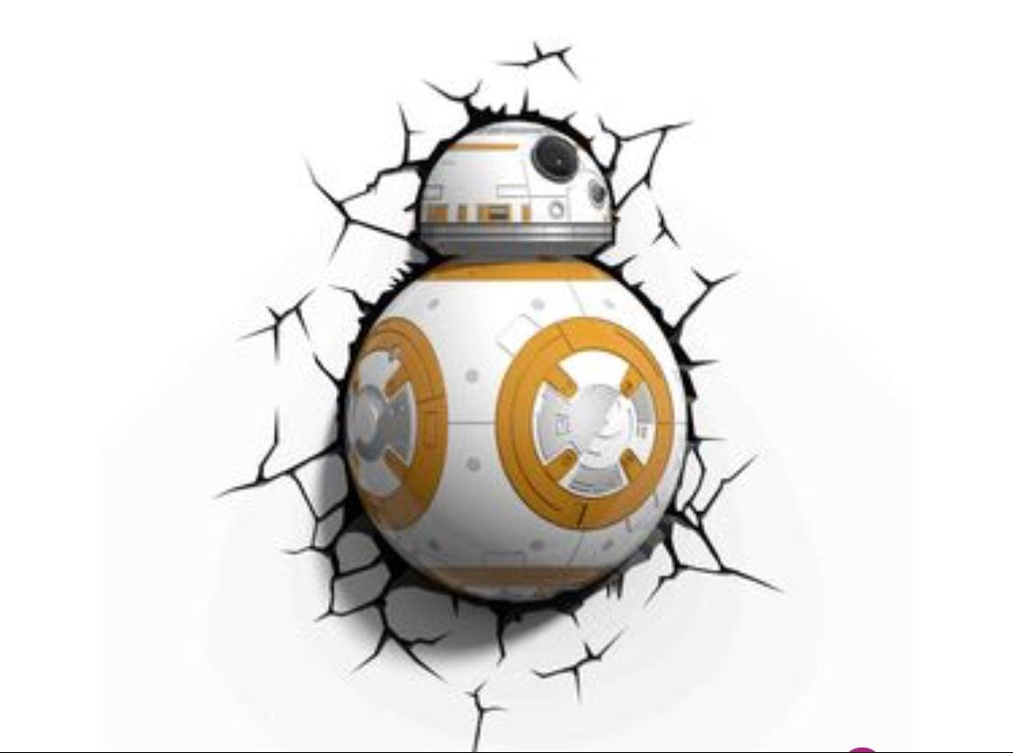 3DlightFX Star Wars BB-8 - Wandlamp - LED