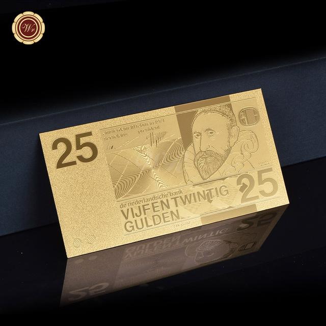 Verguld briefje van 25 gulden voor maar 1,66euro bij Aliexpress