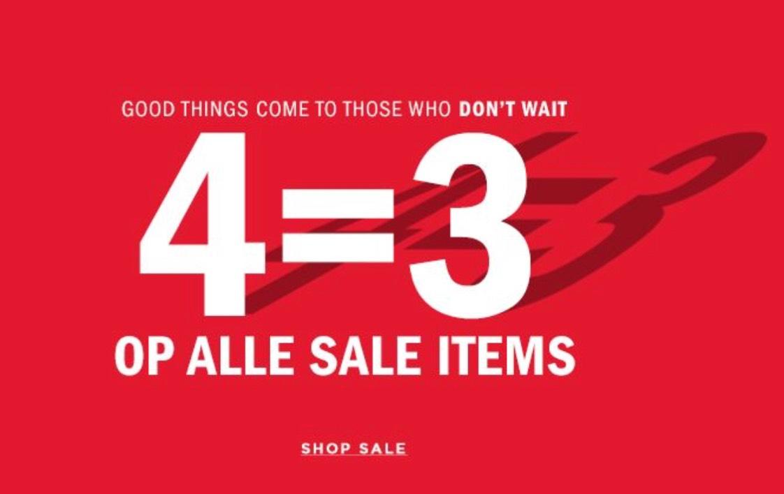 4 = 3 OP ALLE SALE ITEMS @WE Fashion.  LAATSTE DAG!!!