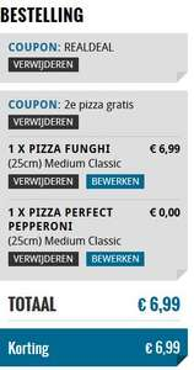 Domino's: 2e Pizza gratis met code 31762 (Betaal vanaf €7 voor 2 pizza's)