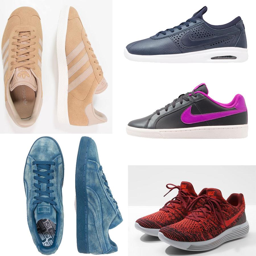 Heel veel sneakers -60% - o.a. Nike, adidas, Converse - dames/heren/kids @ Zalando
