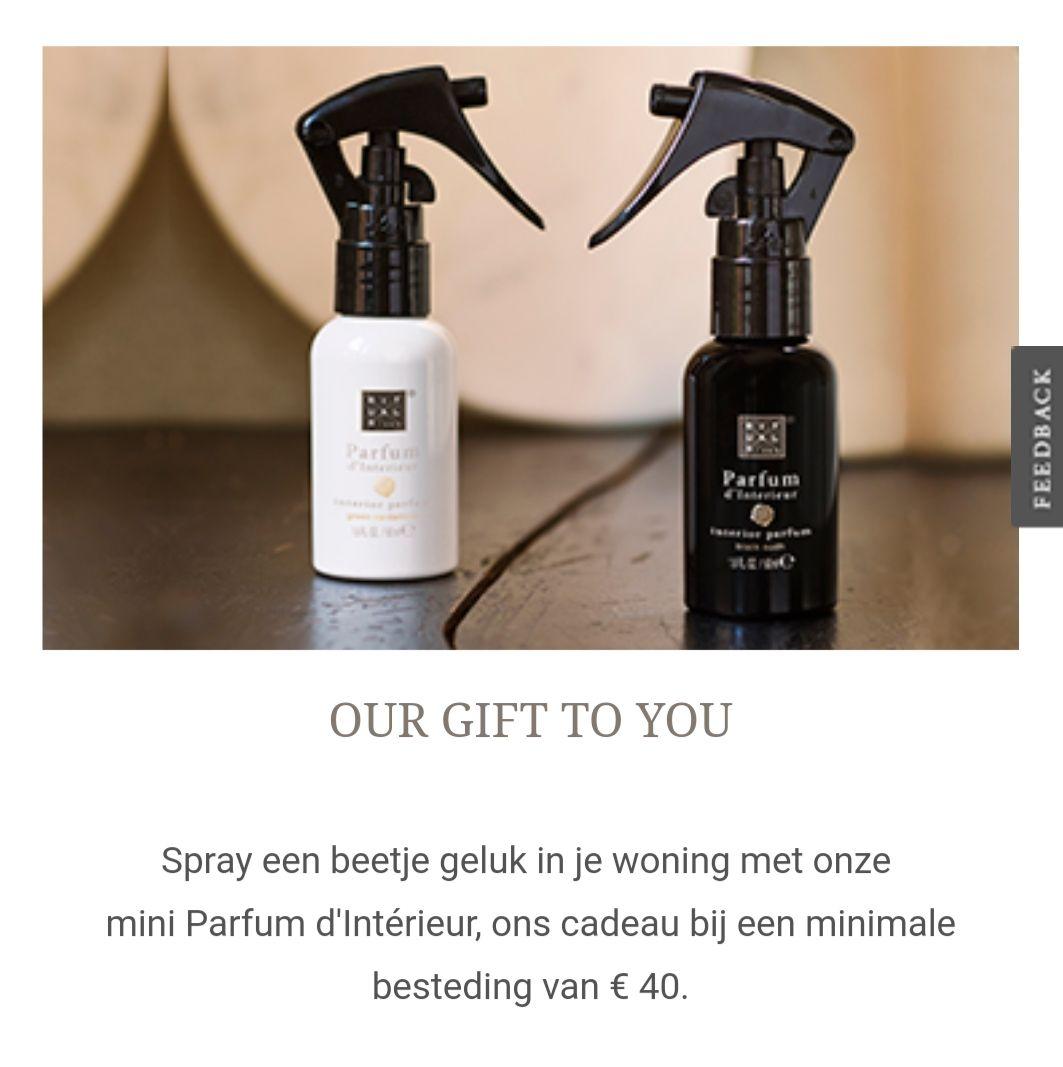 Gratis 2x 50ml parfum d'interieur bij besteding van €40 @ Rituals