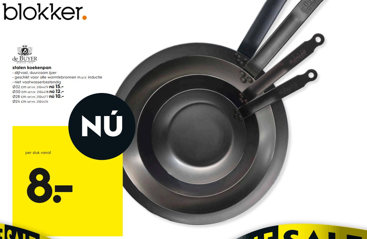 De Buyer Plaatstaal Koekenpan 8e @ Blokker (alleen in de winkel verkrijgbaar)