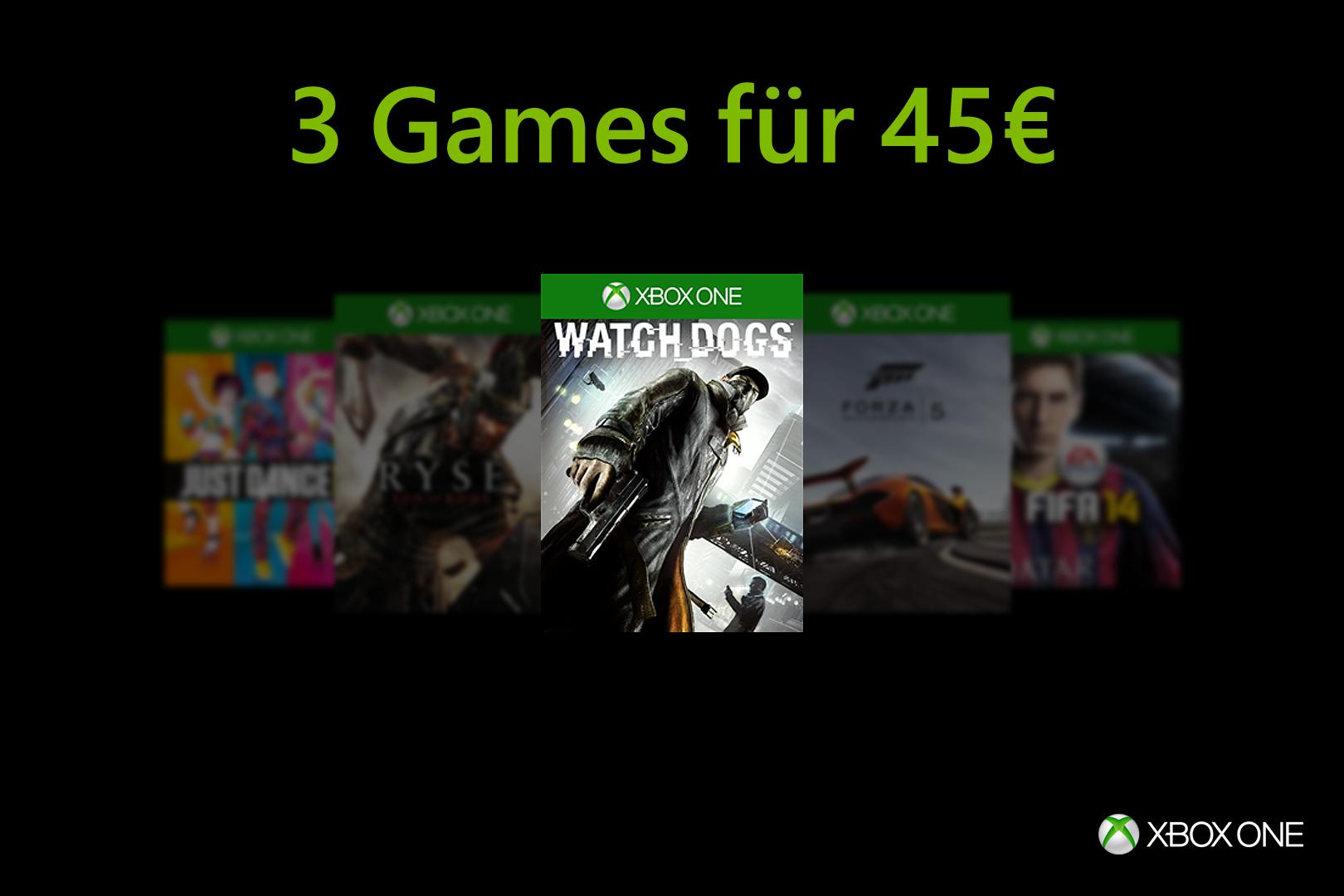 3 Xbox One games (disc-versie) voor €45,- @ Duitse Microsoft Store