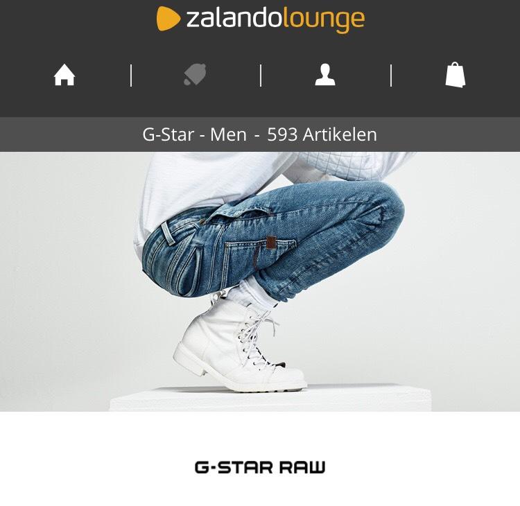 G-Star SALE Zalando Lounge op alle Kleding