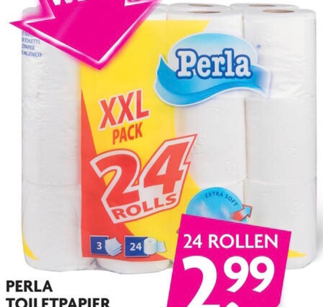 Perla toiletpapier 24 rollen 3-laags @DekaMarkt