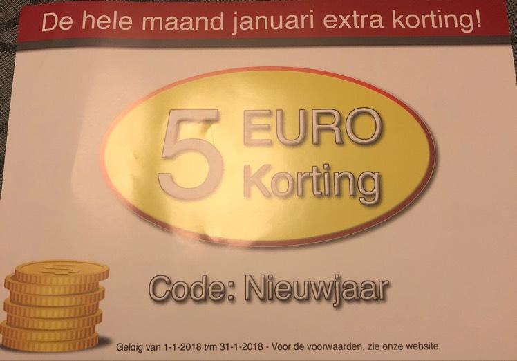 Drankgigant 5 euro korting vanaf 100 euro