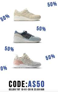 50% Flash sale op ASICS sneakers