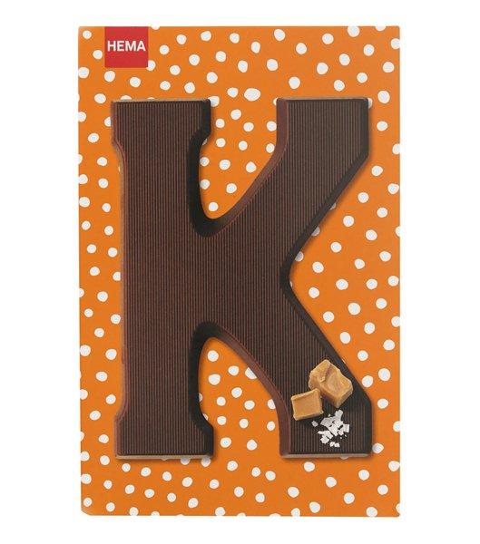 3 chocolade letters karamel - zeezout bij de Hema voor €1,60