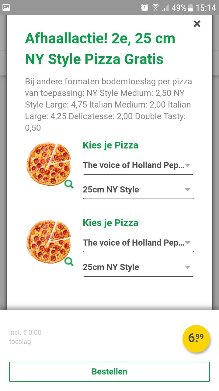 New york pizza 2'de pizza Gratis ( Heerenveen)