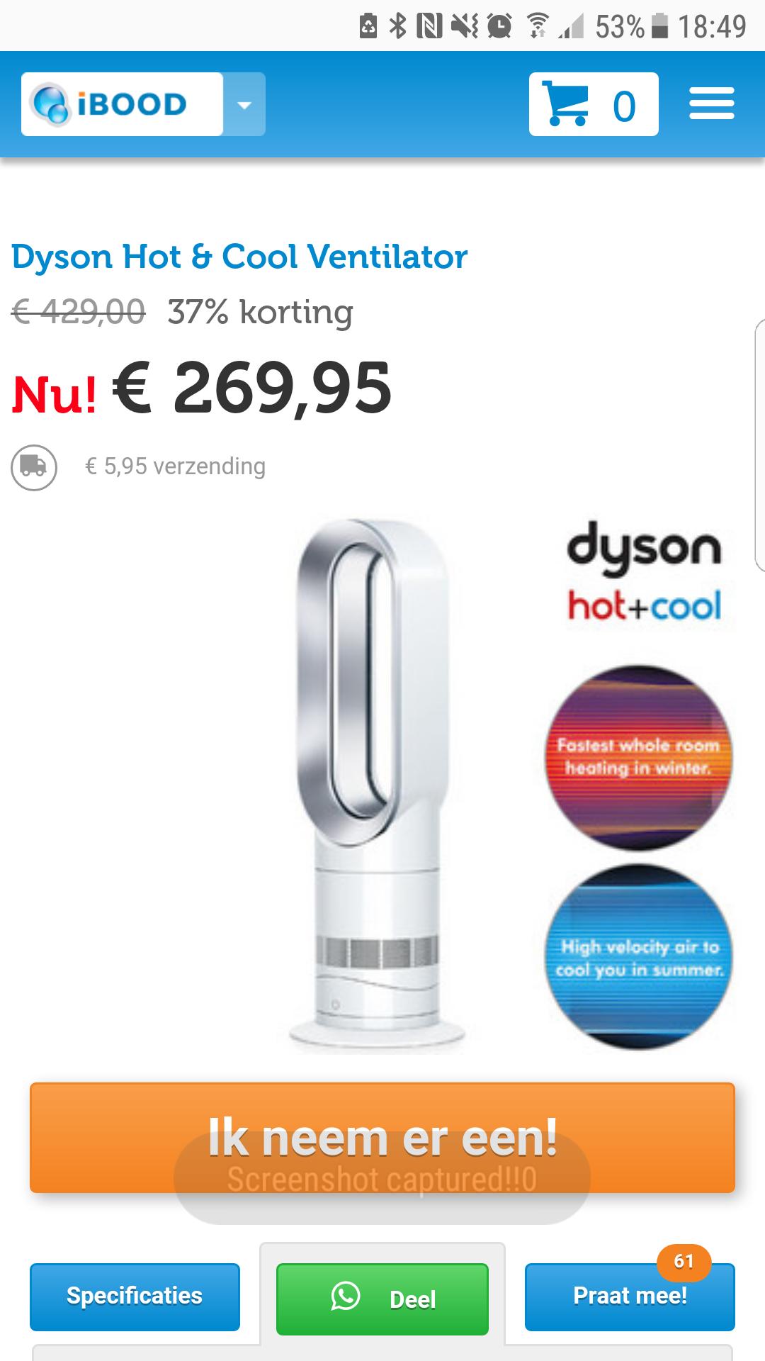 Dyson hot&cool ventilator