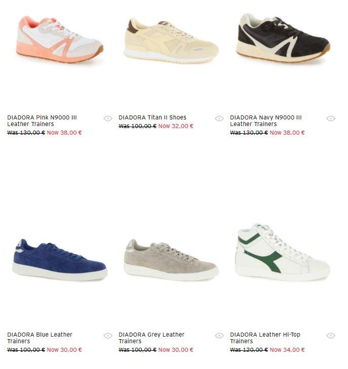 Diadora sneakers 68 - 72% korting @ Topman