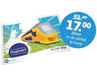 E-ticket Dagkaart van NS voor €17,- @ AH (vanaf maandag)