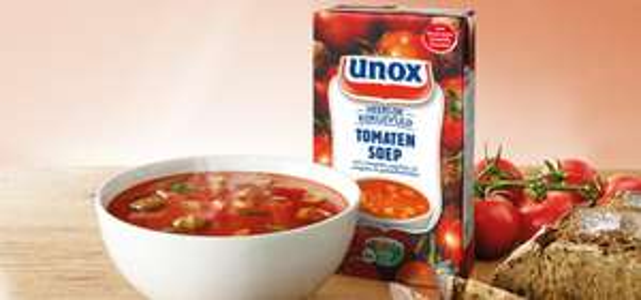 1 liter Unox Soep in Pak voor €1,- (geld terug tot €2,35) @ Scoupy