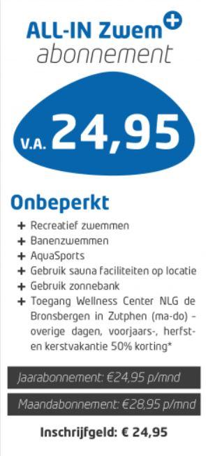 Voor €28,95 Allin Sauna Maand Abonnement bij Wellness Center NLG de Bronsbergen (Zutphen)