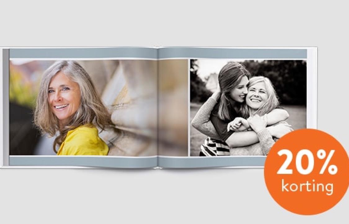 20% korting op fotoboeken @Albelli