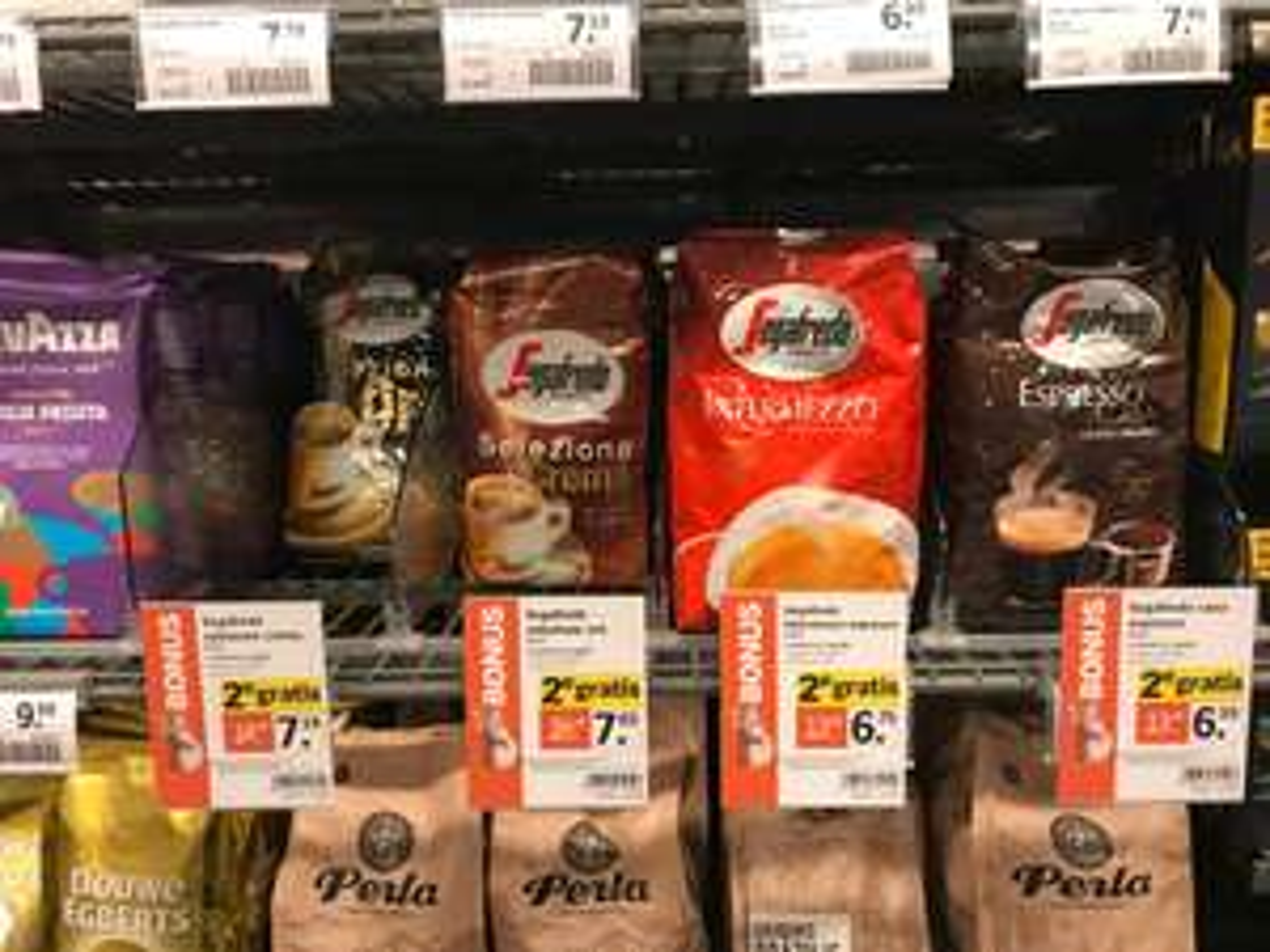 AH: 1 kilo Sagafredo koffiebonen vanaf € 6,59 (1+1 gratis)