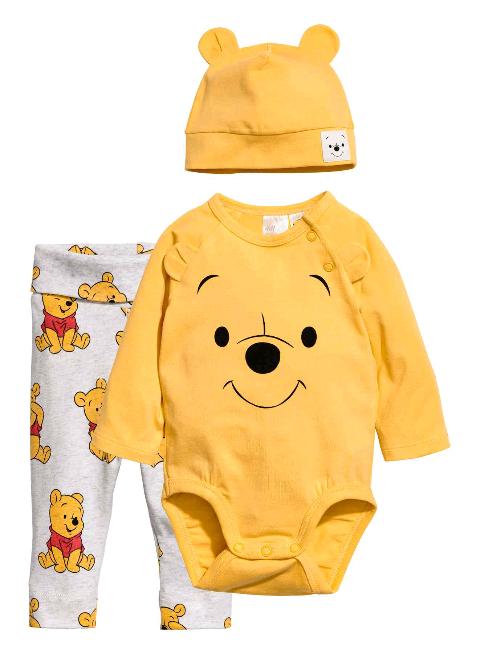 H&M driedelige tricotset voor baby's van Winnie the Pooh