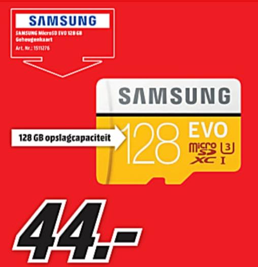 (Bij MM en Bol.com) Samsung Evo 128gb voor maar 44 euro