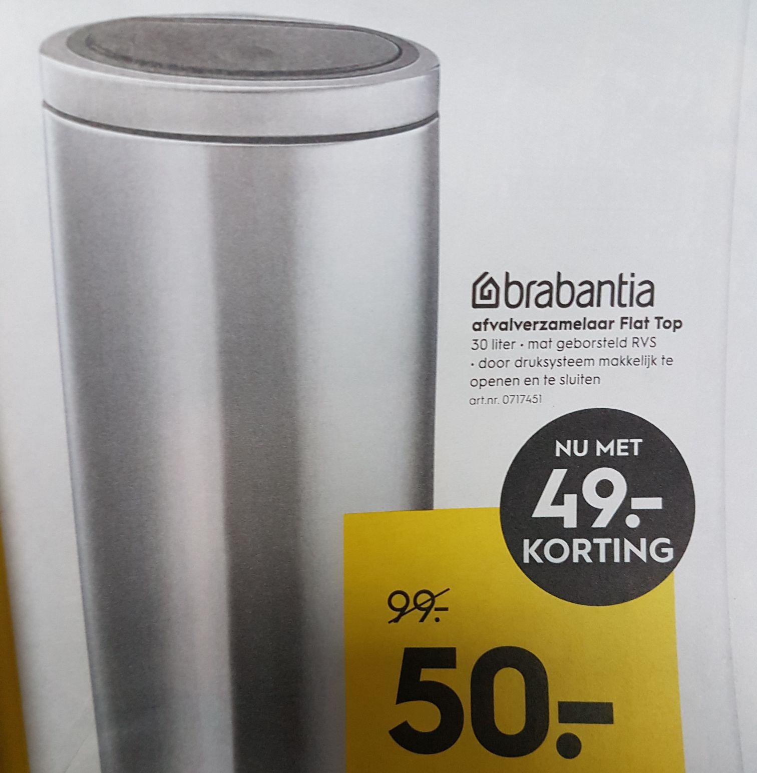 Brabantia 30L flat top van €99 voor €50 @Blokker (vanaf morgen!)