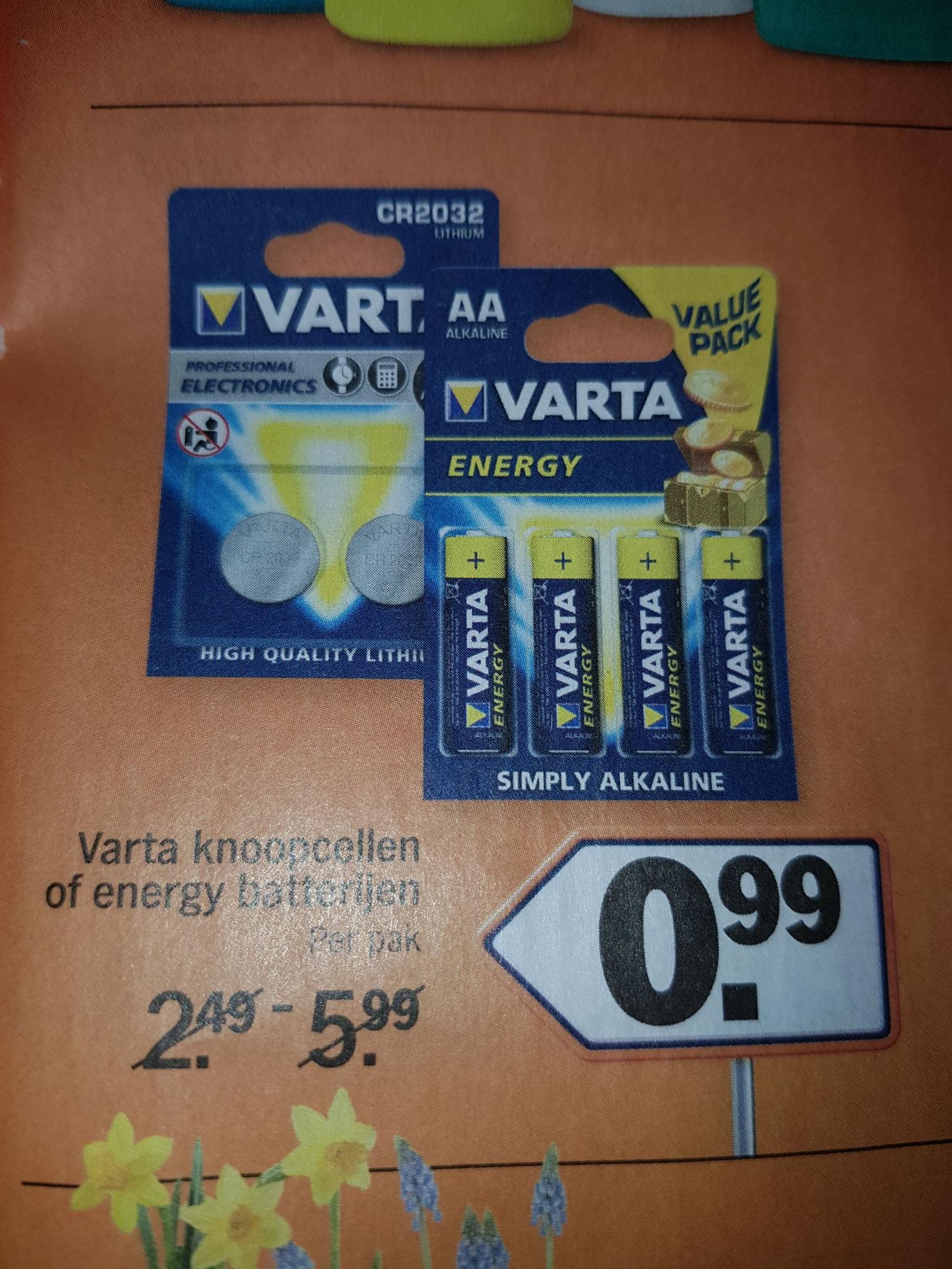 Batterijen A-merk van 6€ voor 1€ @ AH route 99