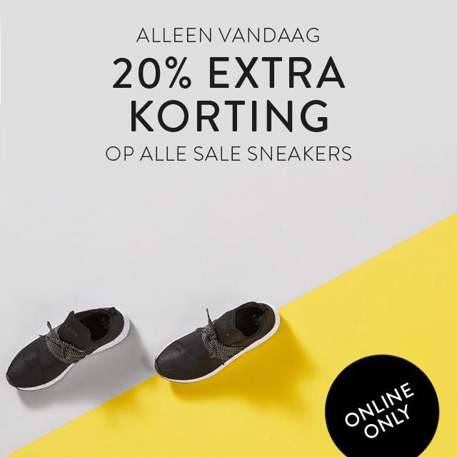20% korting op alle SALE sneakers bij Man At Work