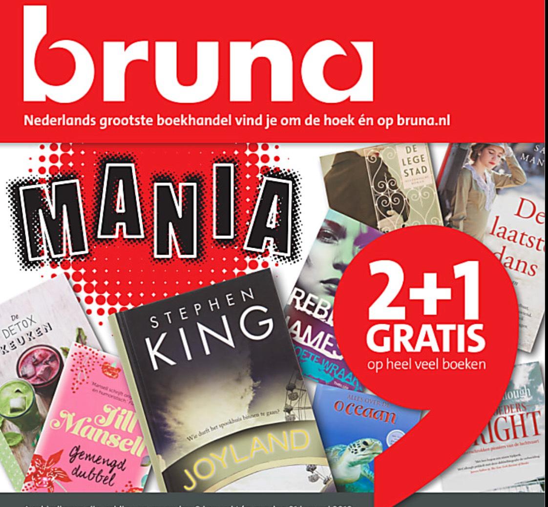 Bruna 2+1 gratis op heel veel boeken.
