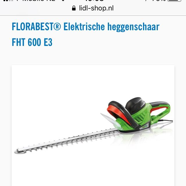 Elektrische Heggenschaar voor €29,99 @ Lidl