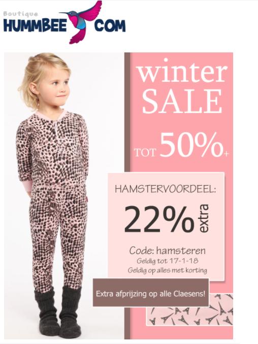 22% extra korting op de sale van Claesen's bij Hummbee.com