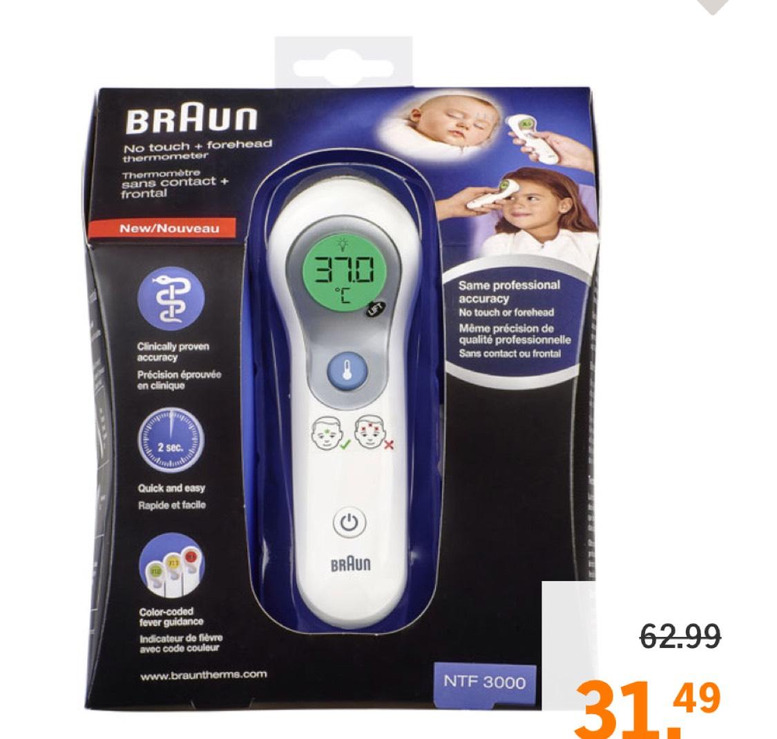 Braun voorhoofdthermometer zonder contact