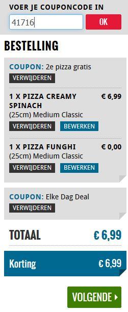 Domino's: 2e Pizza gratis met code 41716