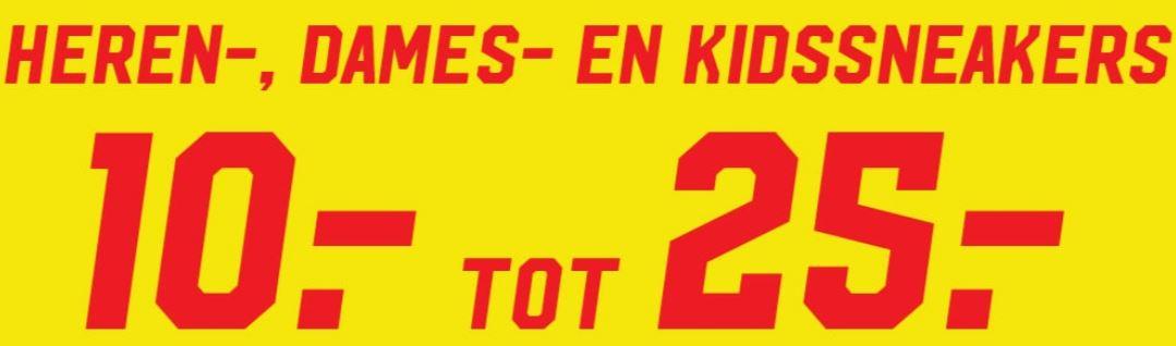 Sneakers tegen ronde prijzen €10 / €15 / €20 / €25 @ Aktiesport