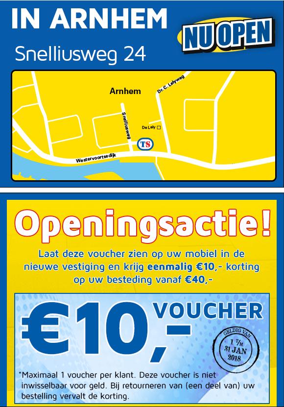 €10 korting bij besteding van €40 Toolstation Arnhem