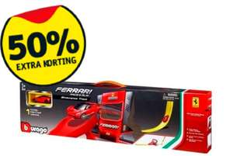 Burago Ferrari Trackset voor €9,99!