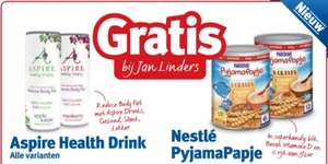 Gratis Aspire Health Drink en/of Nestlé Pyjama papje 400gr @ Jan Linders