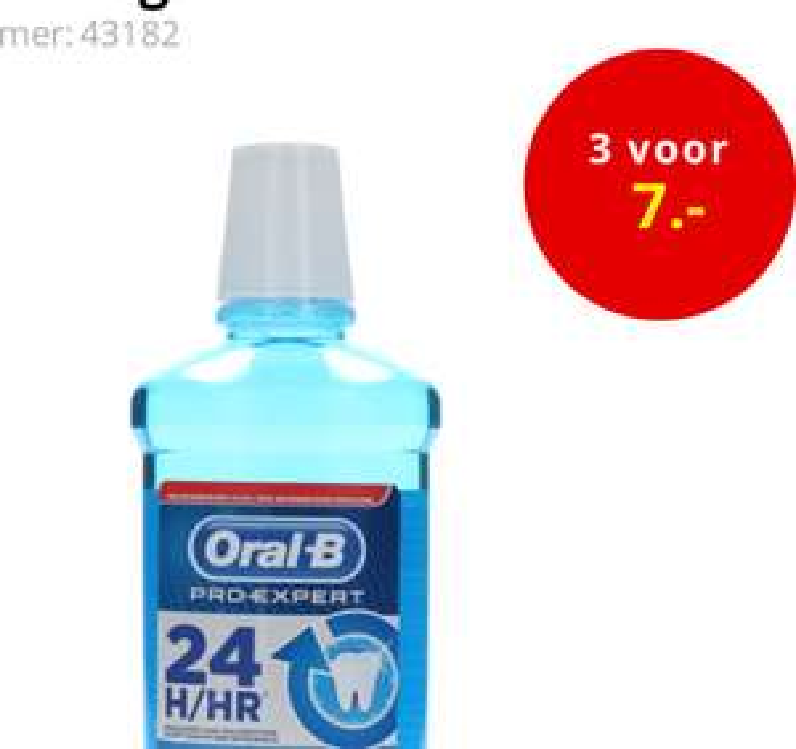 Oral-B Pro-Expert Mondwater 3 voor 7 euro