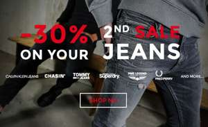 Actie: 2e sale jeans 30% extra korting @ Score