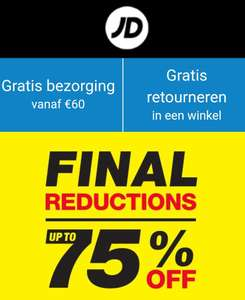 Final Reductions by JD Sports - tot 75% korting!