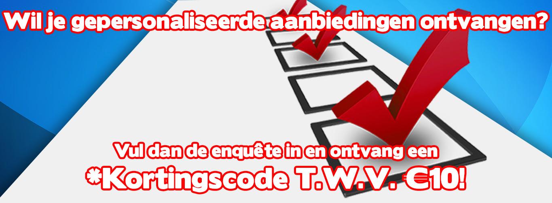 Gratis kortingscode t.w.v. €10 door invullen enquête @ Gameshop Twente