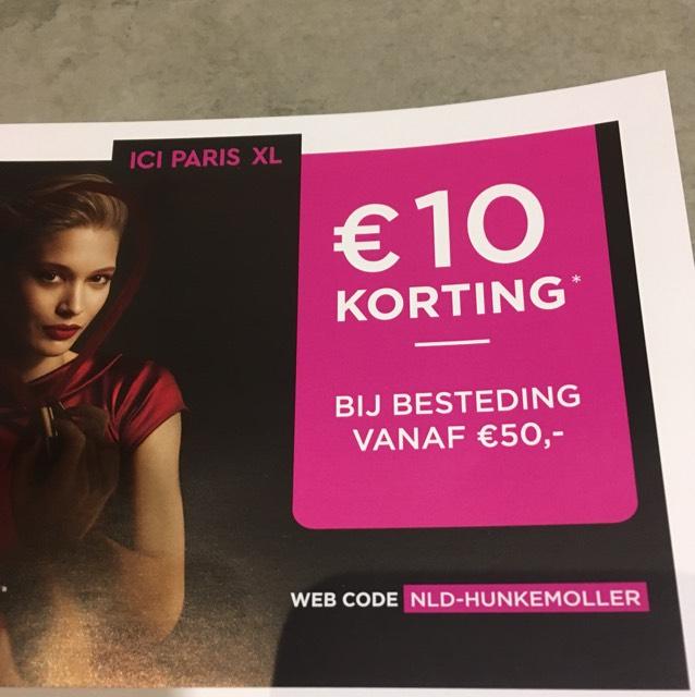 10 euro korting bij ICI PARIS (vanaf 29 januari)