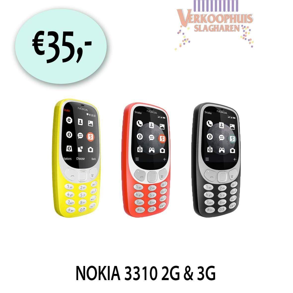 Nokia 3310 2G/3G €35,- @Het Verkoophuis Slagharen