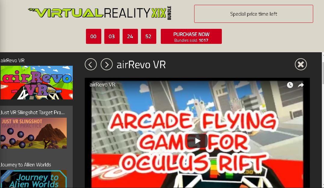 krijg 3  steam VR games (PC) voor US$ 1,00