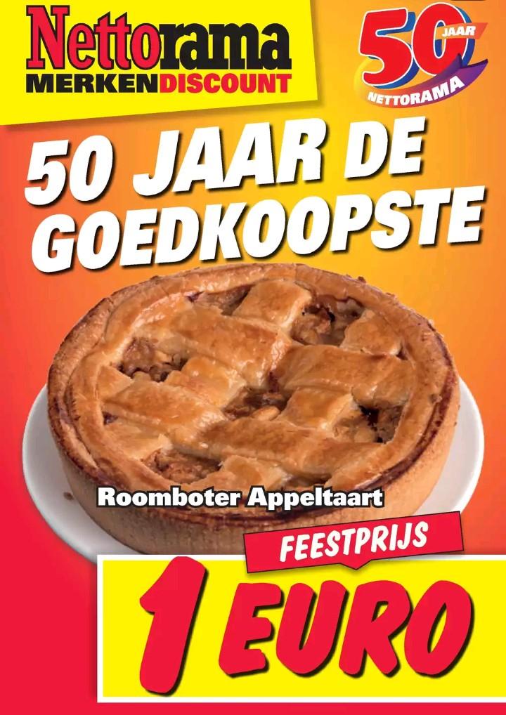 Roomboter appeltaart voor maar €1,- @ Nettorama
