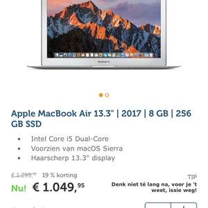"Apple MacBook Air 13"" 2017 256GB"