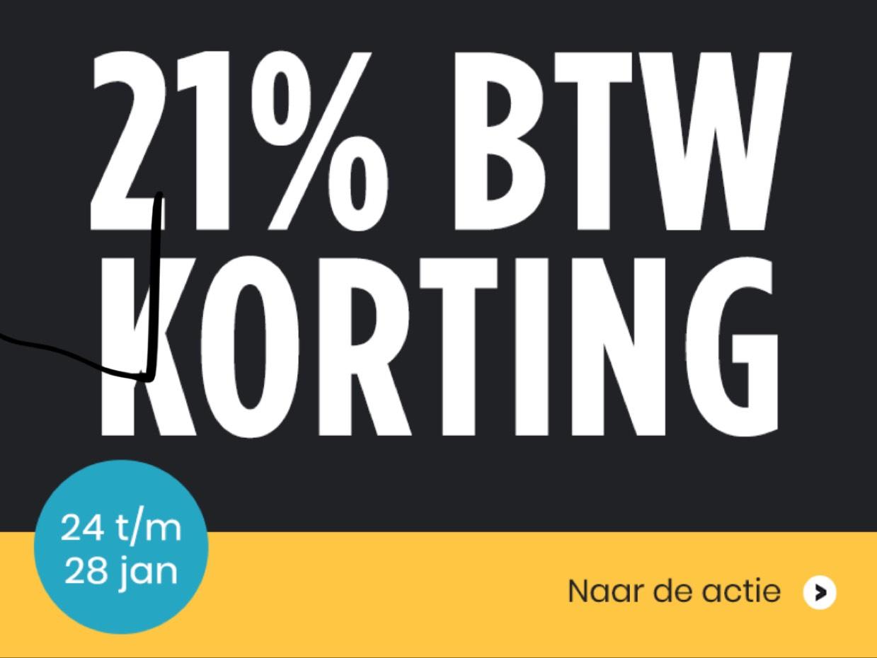 21% BTW korting vanaf woensdag @plattetv.nl