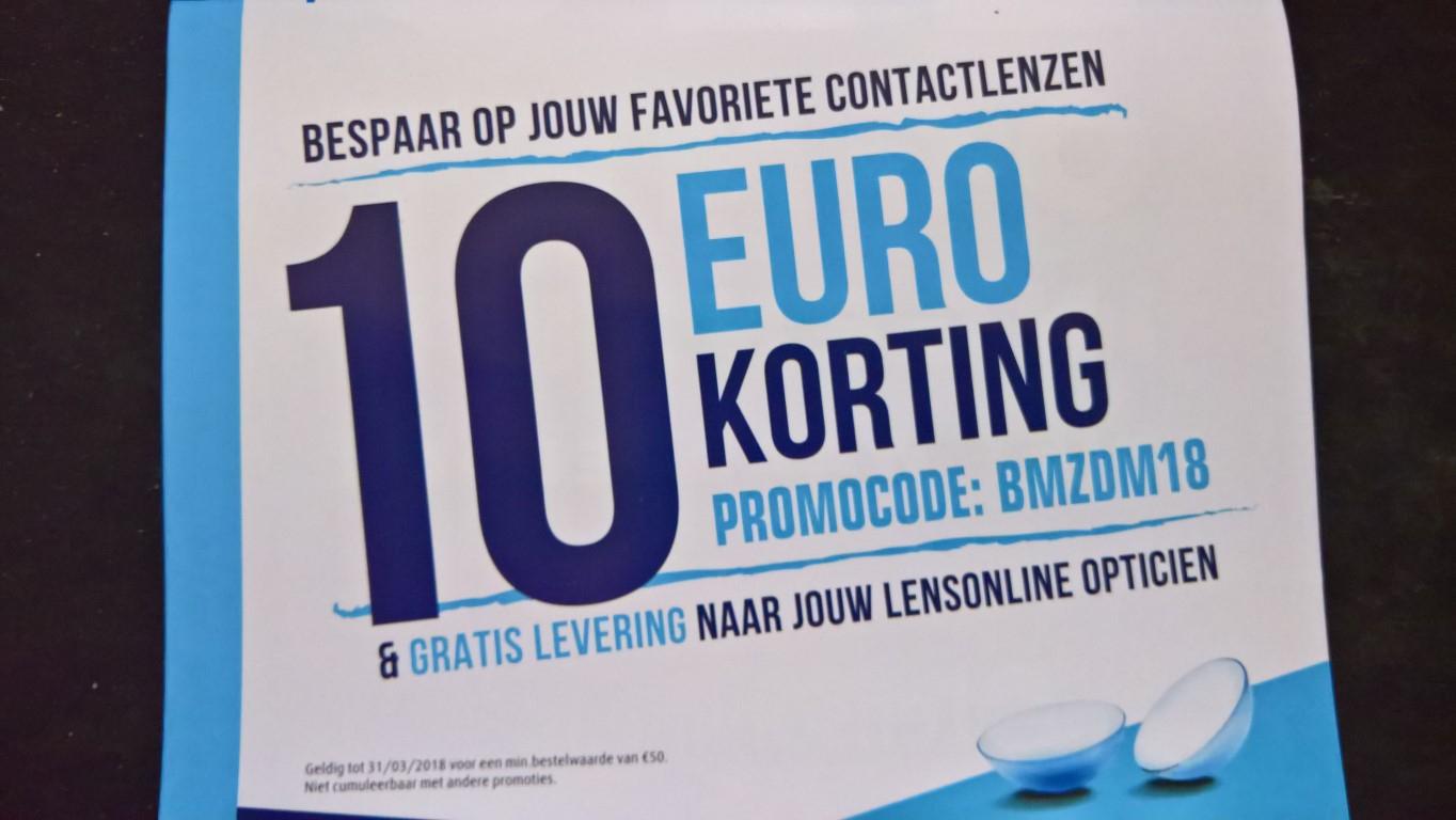 (Lensonline) 10 Euro korting op contactlenzen (min. bestelling 50 euro)