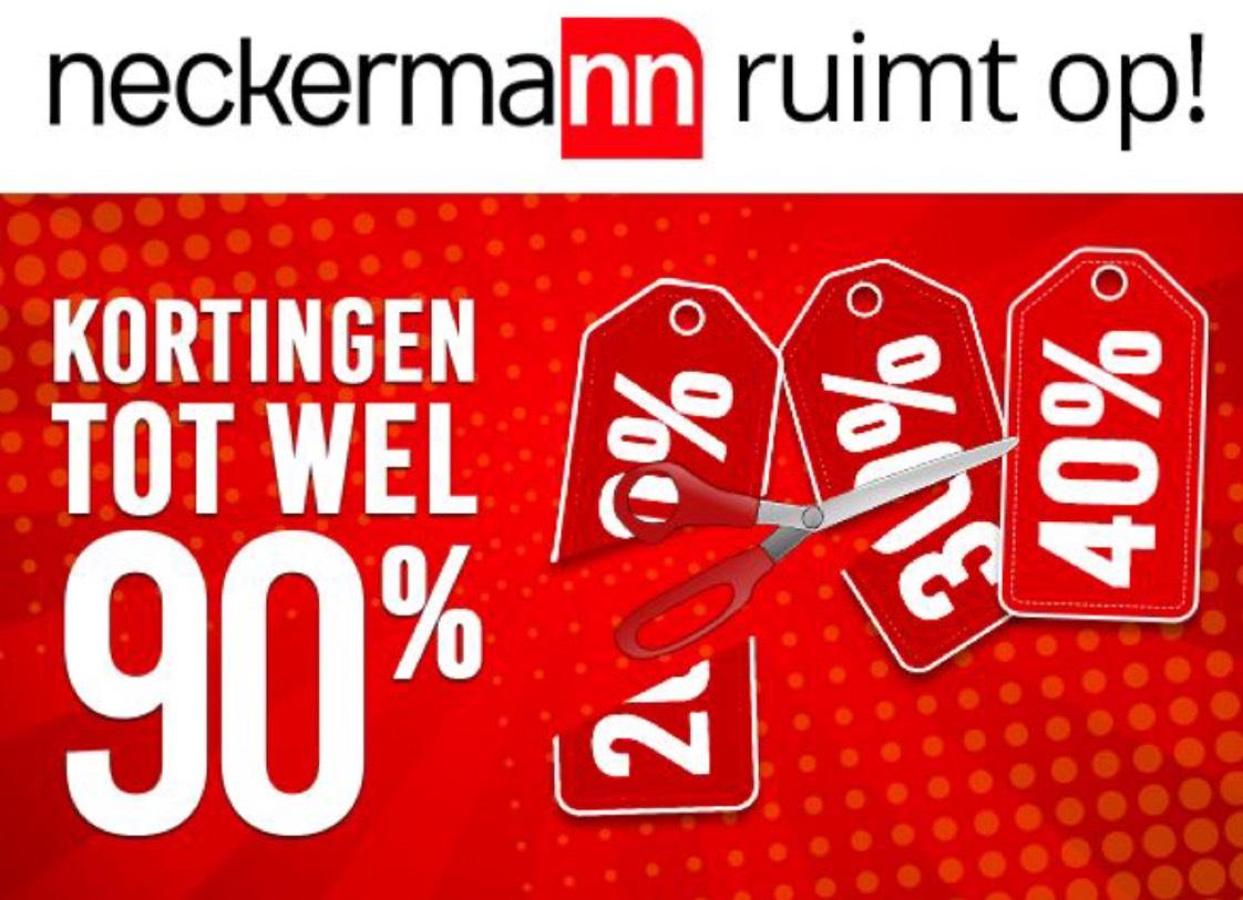 Neckermann ruimt op! Kortingen tot wel 90%