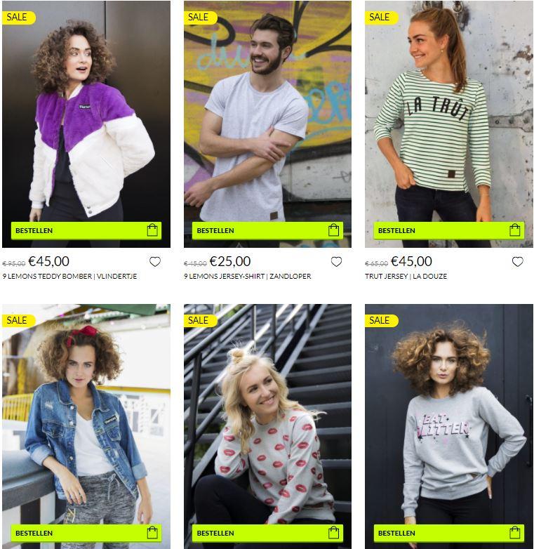 Sale (tot 70+%) - dames / heren / kids - @ 9Lemons