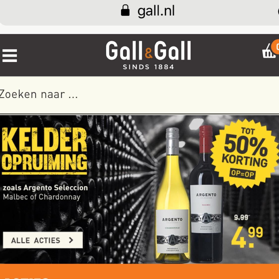 Gall & Gall kelderopruiming.