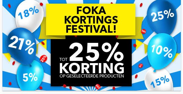Kortingsfestival met kortingen tot 25% @ FOKA